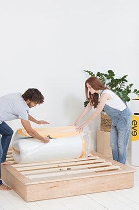 how to unbox the eve mattress